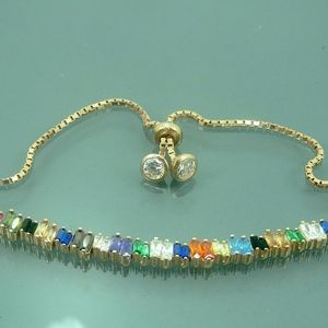 Hand-Crafted Multi-Stone 925 Bracelet